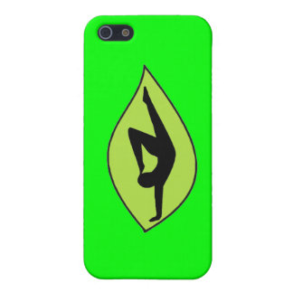 Handstand de la yoga - caja verde del iPhone iPhone 5 Coberturas