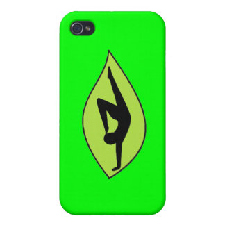 Handstand de la yoga - caja verde del iPhone iPhone 4 Protector