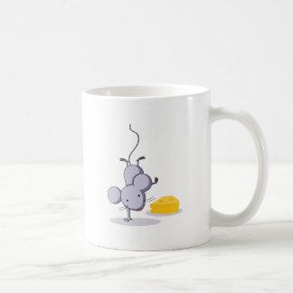 Handstand del ratón taza básica blanca