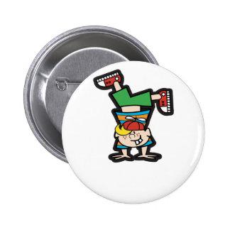Handstand Pinback Button
