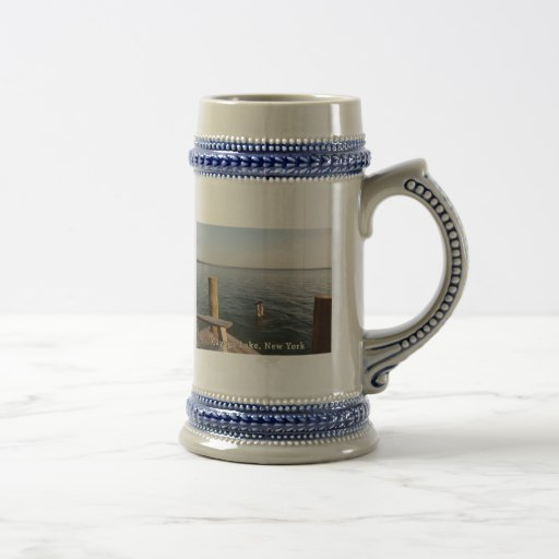 Handstand Water Cayuga Lake NY 18 Oz Beer Stein