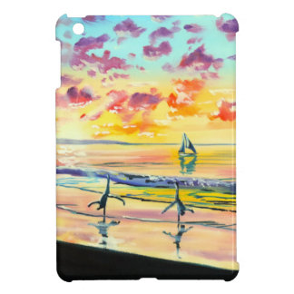 Handstands on the beach sunset case for the iPad mini