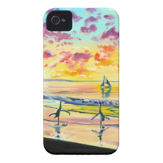 Handstands on the beach sunset iPhone 4 case