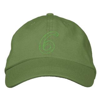 Handstitch Number 6 Embroidered Baseball Caps
