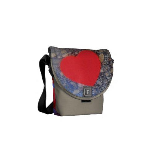 handtasche herz design courier bags