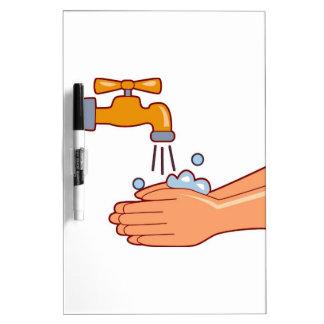 handwash300 HANDWASHING CLEANLINESS HEALTH REMINDE Dry-Erase Boards