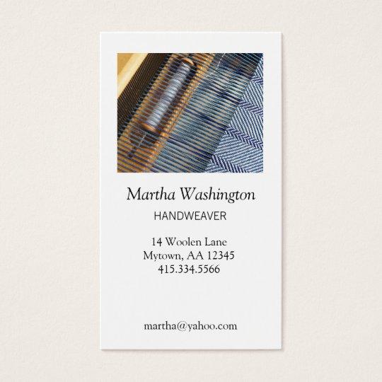 Handweaver Business Card