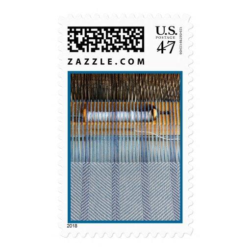 Handweaving Postage Stamp