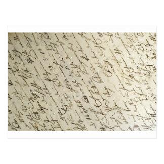 Handwriring viejo postal