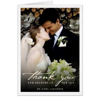 Handwrite Script Classy Wedding Thank You Card