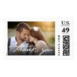 Handwrite Script Thank You Photo Wedding Stamps