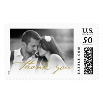 Handwrite Script Thank You Photo Wedding Stamps