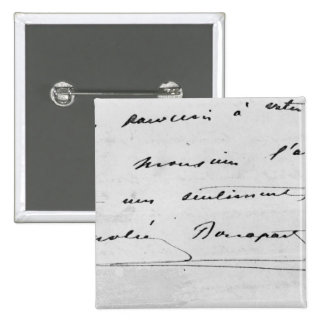 Handwriting and Signature 2 Inch Square Button