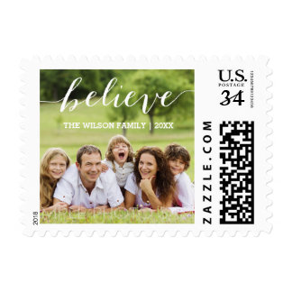 Handwriting Believe | Holiday Photo Postage