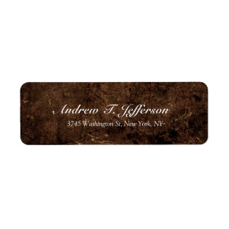 Handwriting Brown Stone Professional Easy To Edit Label