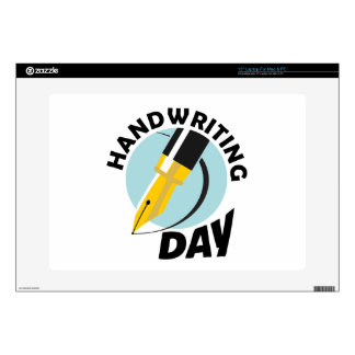Handwriting Day - Appreciation Day Decal For Laptop
