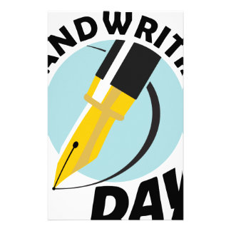 Handwriting Day - Appreciation Day Stationery