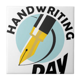 Handwriting Day - Appreciation Day Tile