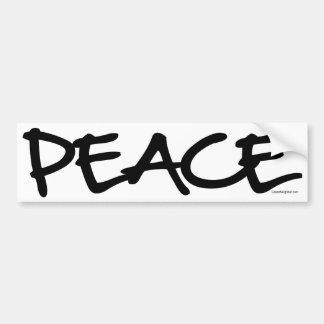 Handwriting Peace Car Bumper Sticker