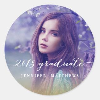 Handwriting Script 2015 Graduation Photo Sticker