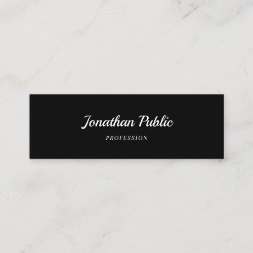 Handwriting Script Font Modern Simple Elegant Cool Mini Business Card