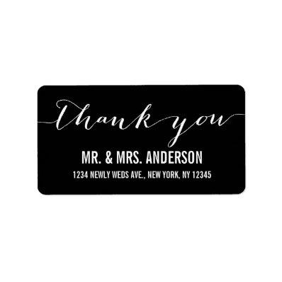 Handwriting Script Wedding Thank You Custom Address Labels
