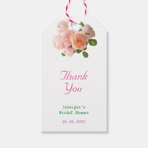 Handwriting Thank You Text Floral Template Modern Gift Tags