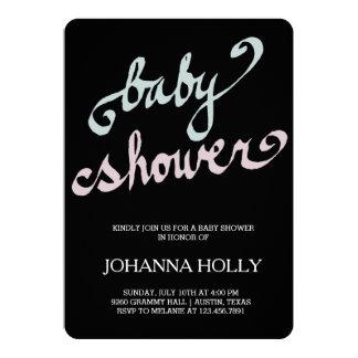 handwritten baby shower card