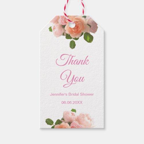 Handwritten Bridal Shower Thank You Blush Pink Gift Tags