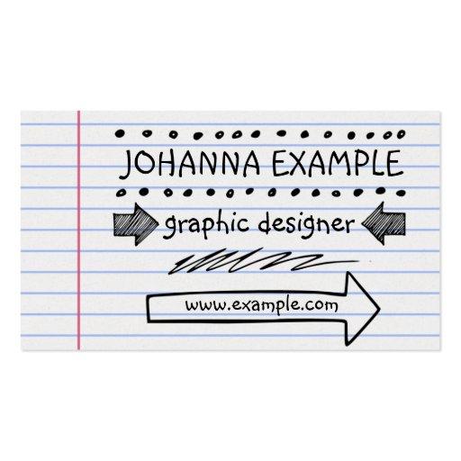 Handwritten Business Card