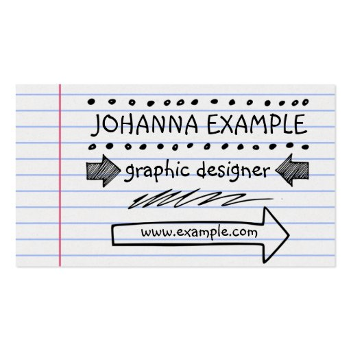 holographic will template - handwritten business card zazzle