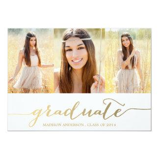 Handwritten Collage   Graduation Party Invitation