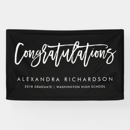 handwritten congratulations graduate banner zazzle com