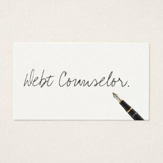 Handwritten Debt Counselor Business Card