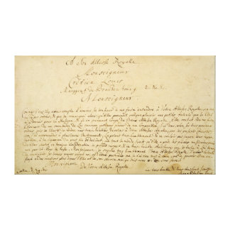 Handwritten dedication  'Brandenburger Concertos' Canvas Print