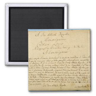 Handwritten dedication  'Brandenburger Concertos' Refrigerator Magnets