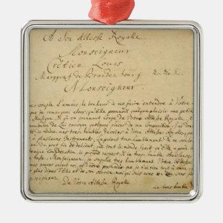 Handwritten dedication  'Brandenburger Concertos' Metal Ornament