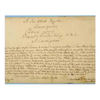 Handwritten dedication Brandenburger Concertos Postcards