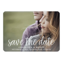 Handwritten | Double-Sided Photo Save the Date Card