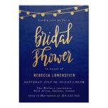 Handwritten Elegant Gold Lights Bridal Shower Card