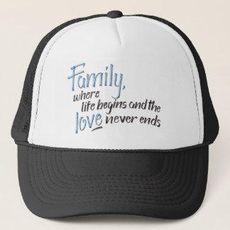 Handwritten Family Quote Trucker Hat