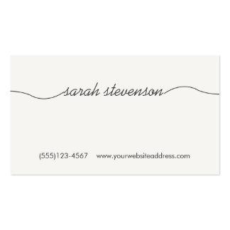 Handwritten Font Faux Wood Backside Business Card
