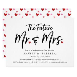 Handwritten Future Mr. & Mrs. Engagement Party Card