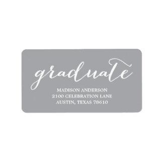 Handwritten | Graduation Address Label