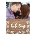 Handwritten Holly Holiday Photo Card