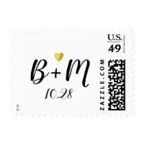 handwritten initials love wedding postage