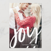 Handwritten Joy Photo Holiday