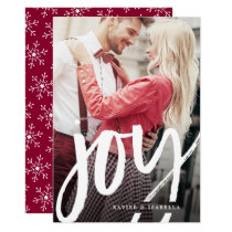 Handwritten Joy Photo Holiday Card