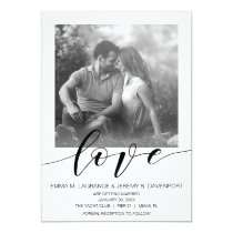 Handwritten love photo card | wedding invitation