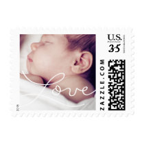 Handwritten love photo postage stamp